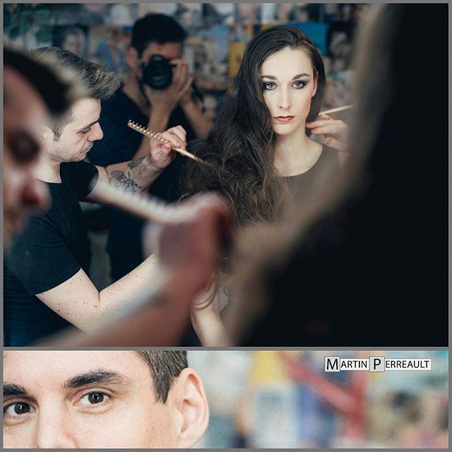 #bts work on @gilpmtl fashion shoot /w @leroy_ludovic_officiel hair stylist. #p&pimagefactory #martinperreault #hair #hairstyles