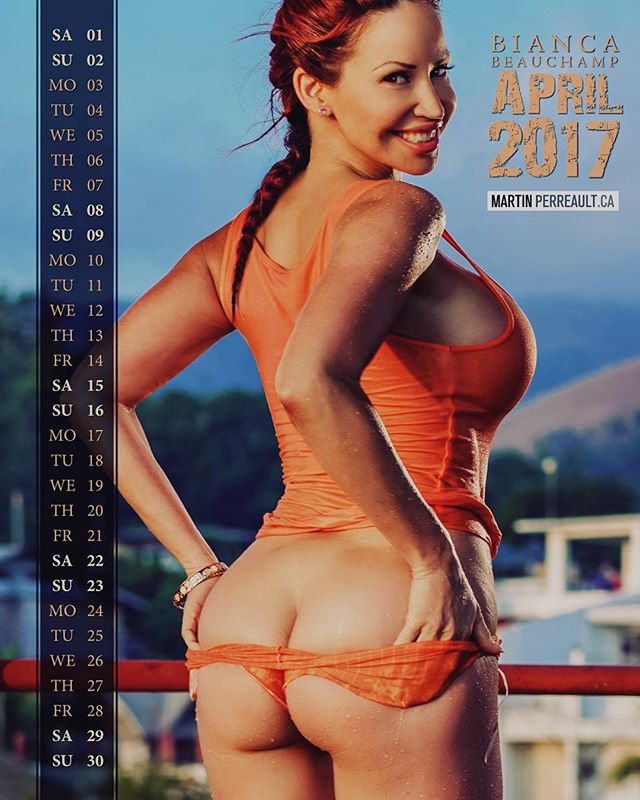 APRIL, from @biancabeauchampmodel 's 2017 Glam Calendar. I photographed her on the rooftop of a nice diving shop hotel in a small island of the Philippines. www.martinperreault.com #martinperreault #photography #portrait #braids #redhead #orange  #philippines #smile
