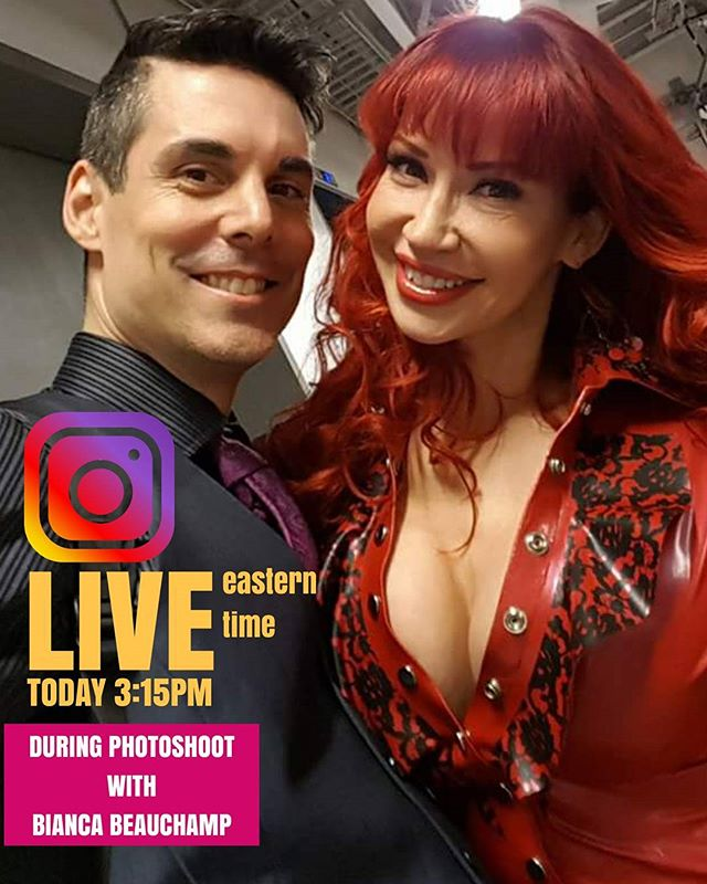 I will be #live  on IG today 3:15pm (eastern time) during photoshoot /w @biancabeauchampmodel following her LIVE Q&A ON HER FB/BIANCABEAUCHAMPMODEL. don't miss it! www.martinperreault.com #martinperreault #photography #ilovebianca #biancabeauchamp #redhead #latex #fetish #lingerie