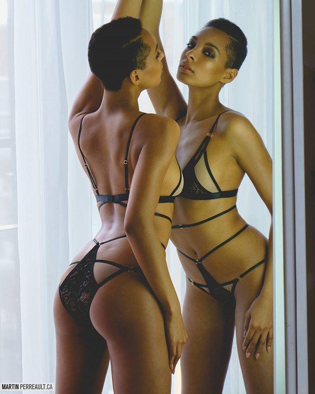 C'est joli deux Eli @eli8409!  Éditorial ce mois-çi dans le magazine @borealis_mag. ? #lingerie @alicekasslingerie #mua @catoumua #styliste @emmanuelleneron