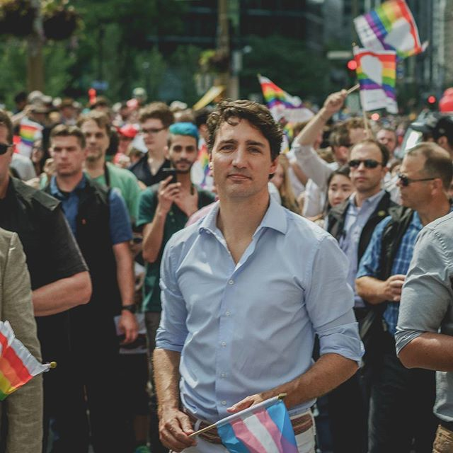 I had the privilege to photograph our  #primeminister Justin Trudeau, at #pridemtl #fiertemtl #pride #parade #justintrudeau #Montreal #canada