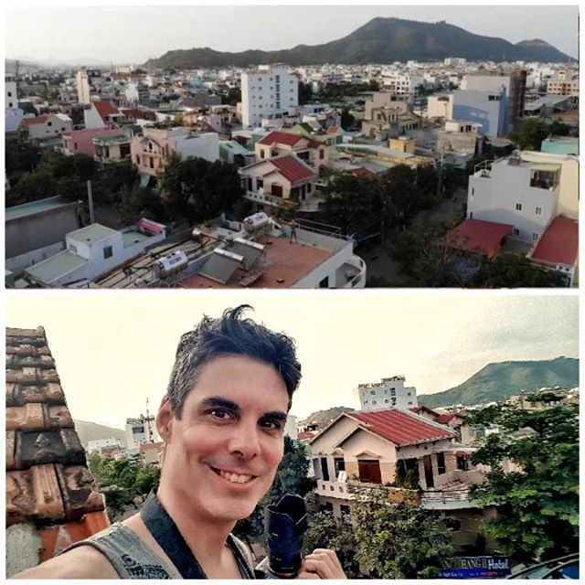 On the rooftop of @johnandpaulinn hostel in Nguyen Vân Cu in #vietnam   #johnandpaulinn
