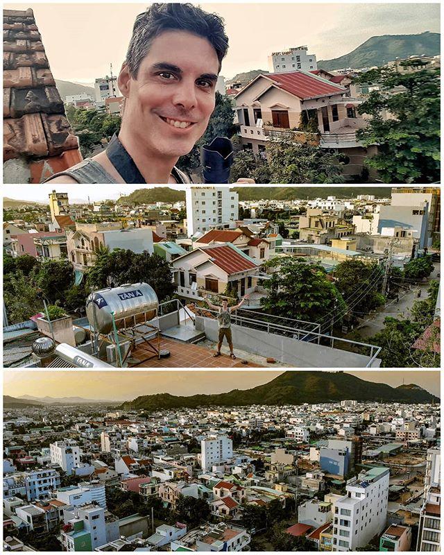 On the rooftop of @johnandpaulinn hostel in Nguyen Vân Cu in #vietnam   #johnandpaulinn